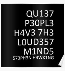 Loudest minds... (Stephen Hawking) Poster