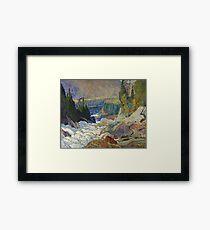 James Edward Hervey Macdonald - Falls, Montreal River Framed Print