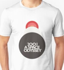 Stanley Kubrick, 2001 A Space Odyssey, minimal movie poster, sci-fi, fantasy classic film, blue version Unisex T-Shirt