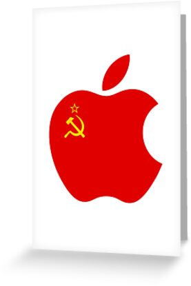 Communist apple greeting cards by ricemann redbubble communist apple by ricemann m4hsunfo