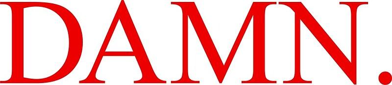 """kendrick lamar damn. text album logo"" Canvas Prints by ..."
