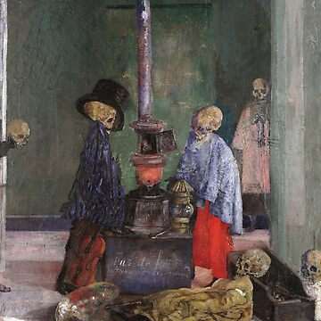James Ensor - Skeletons Warming Themselves by artcenter