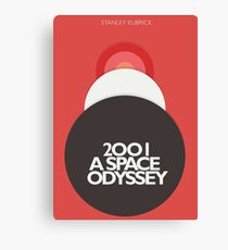 2001 a Space Odyssey, Stanley Kubrick, movie poster, fantasy, space, film, sci-fi Canvas Print