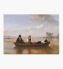 James Goodwyn Clonney - Fishing Party On Long Island Sound Off New Rochelle Photographic Print
