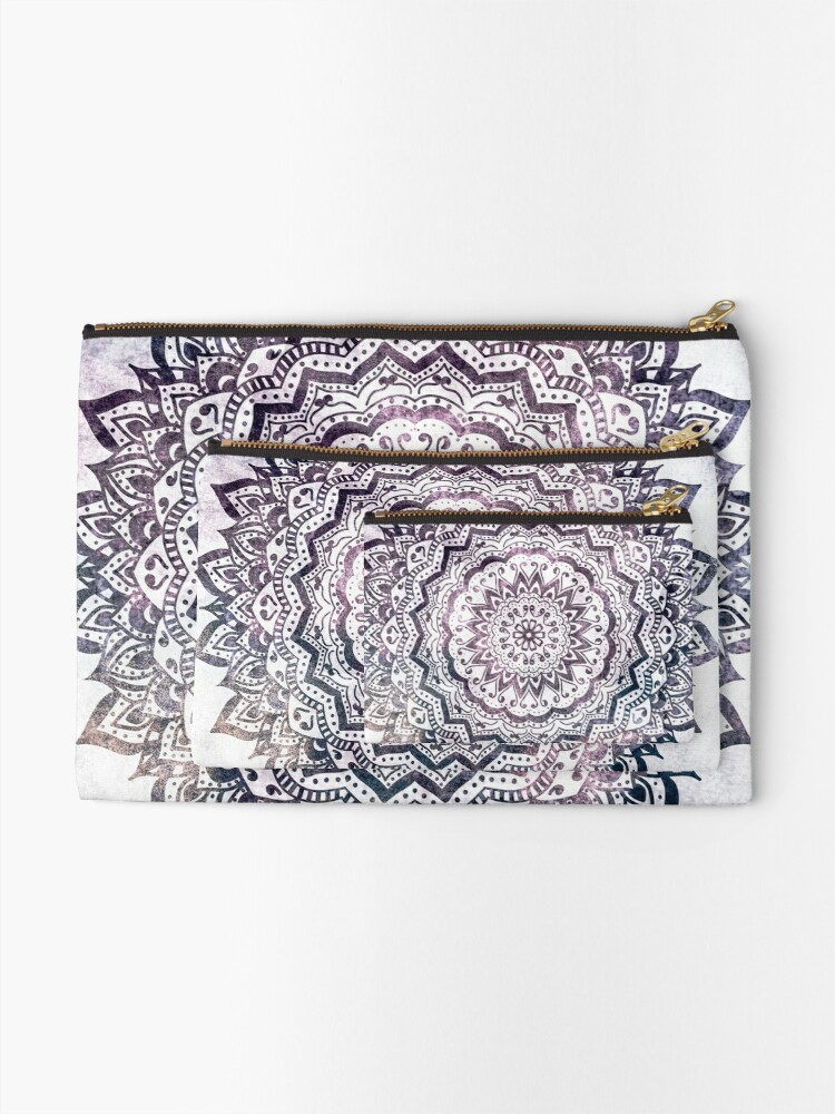 Alternate view of JEWEL MANDALA Zipper Pouch