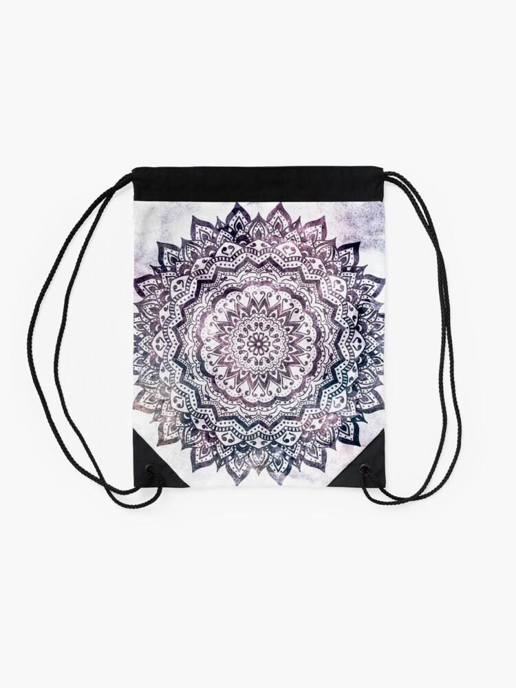 Alternate view of JEWEL MANDALA Drawstring Bag