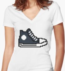 Fast and furious 8 bit shoe Ludacris / Tej Parker Women's Fitted V-Neck T-Shirt