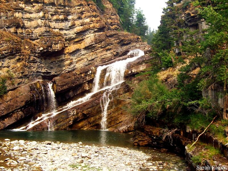 Cameron Falls In Waterton Park - Canada. by Sarah Elson