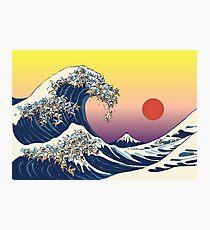 Lámina fotográfica La gran ola de gato