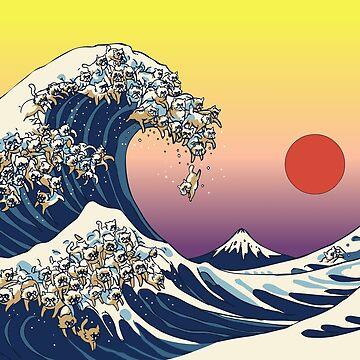 La gran ola de gato de Huebucket