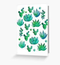 Watercolor Succulents Greeting Card