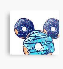 Pop Blue Donut Metal Print