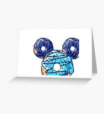 Pop Blue Donut Greeting Card