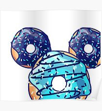 Pop Blue Donut Poster