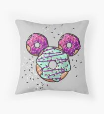 Pop Donut -  Berry Frosting Throw Pillow