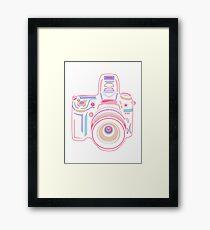 Cute Pastel Camera Framed Print