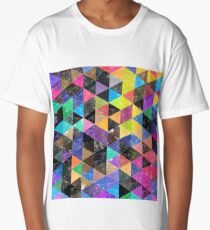 Abstract geometric Background  Long T-Shirt