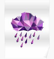 Purple Rain Pattern - Light version Poster