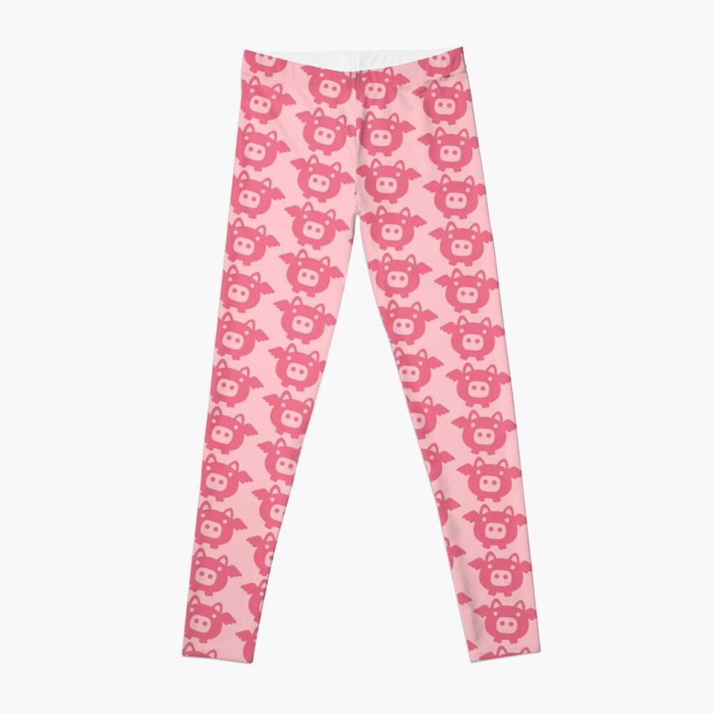 Flying Pink Pig Leggings