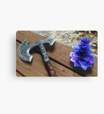 "Skyrim - ""War Axe and a Deathbell"" Print Canvas Print"