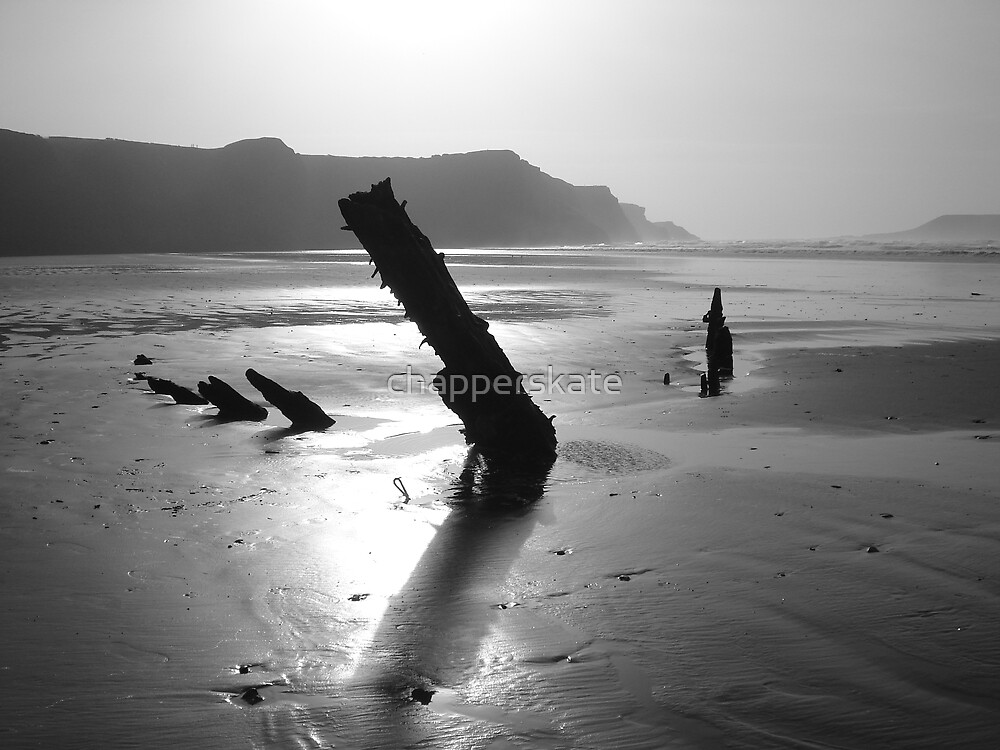 Ship Wreck, Rhosilli, The Gower by chapperskate