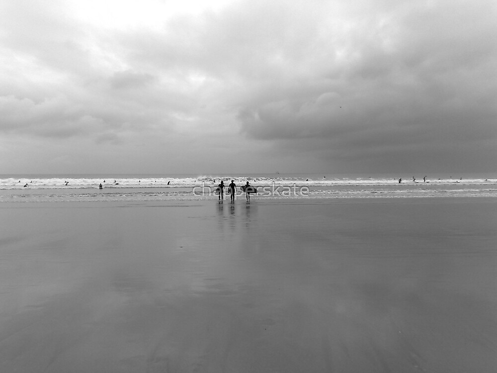 Ladies Who Surf, Rhosilli, The Gower by chapperskate