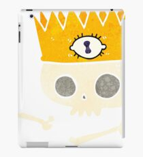 retro cartoon magic crown on old skull iPad Case/Skin