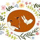 «Friendship Fox-Rabbit_BgWhite» de miavaldez