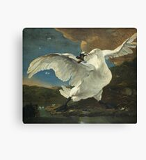 Jan Asselyn - The Threatened Swan Canvas Print