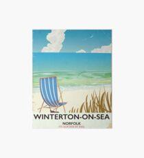 Winterton-on-Sea Norfolk Beach travel poster Card Art Board
