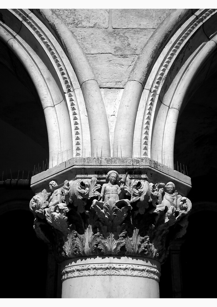 Column, Doges Palace, Venice by Tristen Haines