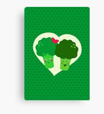 Broccoli in Love Canvas Print