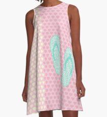 Flip Flop Pastel A-Line Dress