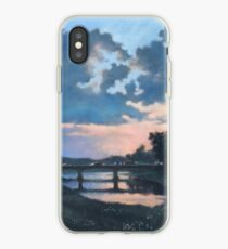 Evening over Varta river iPhone Case