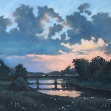 Evening over Varta river by Pony-art