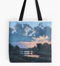 Evening over Varta river Tote Bag