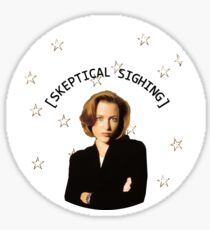 Skeptical Scully  Sticker