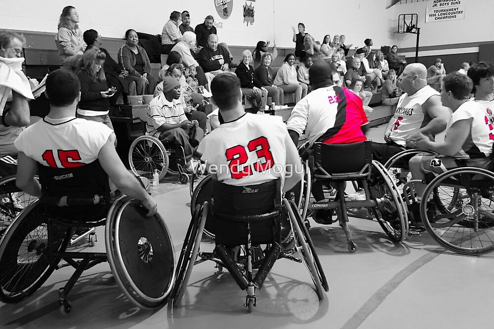 Wheelchair Basketball Team by Wendy Mogul