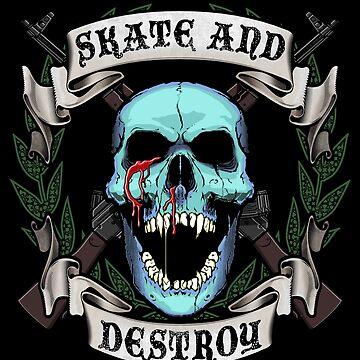 Skate and Destroy Skull by DeadMonkeyShop