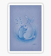 Blue Rabbit Sticker