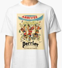 LE TOUR DE FRANCE: Vintage Perrier Water Advertising Classic T-Shirt