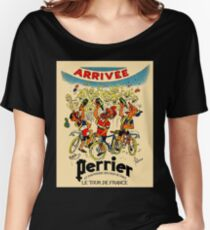 LE TOUR DE FRANCE: Vintage Perrier Water Advertising Women's Relaxed Fit T-Shirt