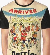 LE TOUR DE FRANCE: Weinlese-Perrier-Wasser-Werbung Grafik T-Shirt