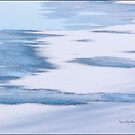 Winter's Painting on the Icy River by Yannik Hay