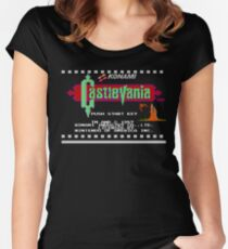 Castlevania NES title screen Women's Fitted Scoop T-Shirt