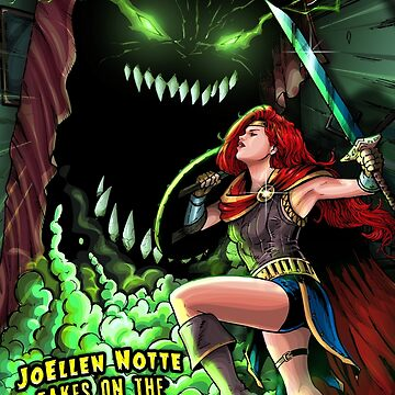 SheVibe Presents - JoEllen Notte Battles The Monster Under The Bed - Cover Art by shevibe