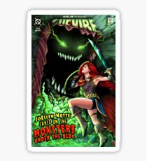 JoEllen Notte Battles The Monster Under The Bed - SheVibe Cover Art Sticker