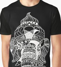 Decorated Elephant God - White Graphic T-Shirt