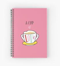 A Cup of Love Spiral Notebook