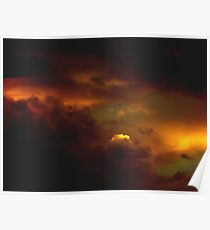 Sunset Over Okanogan Mountain Park Poster